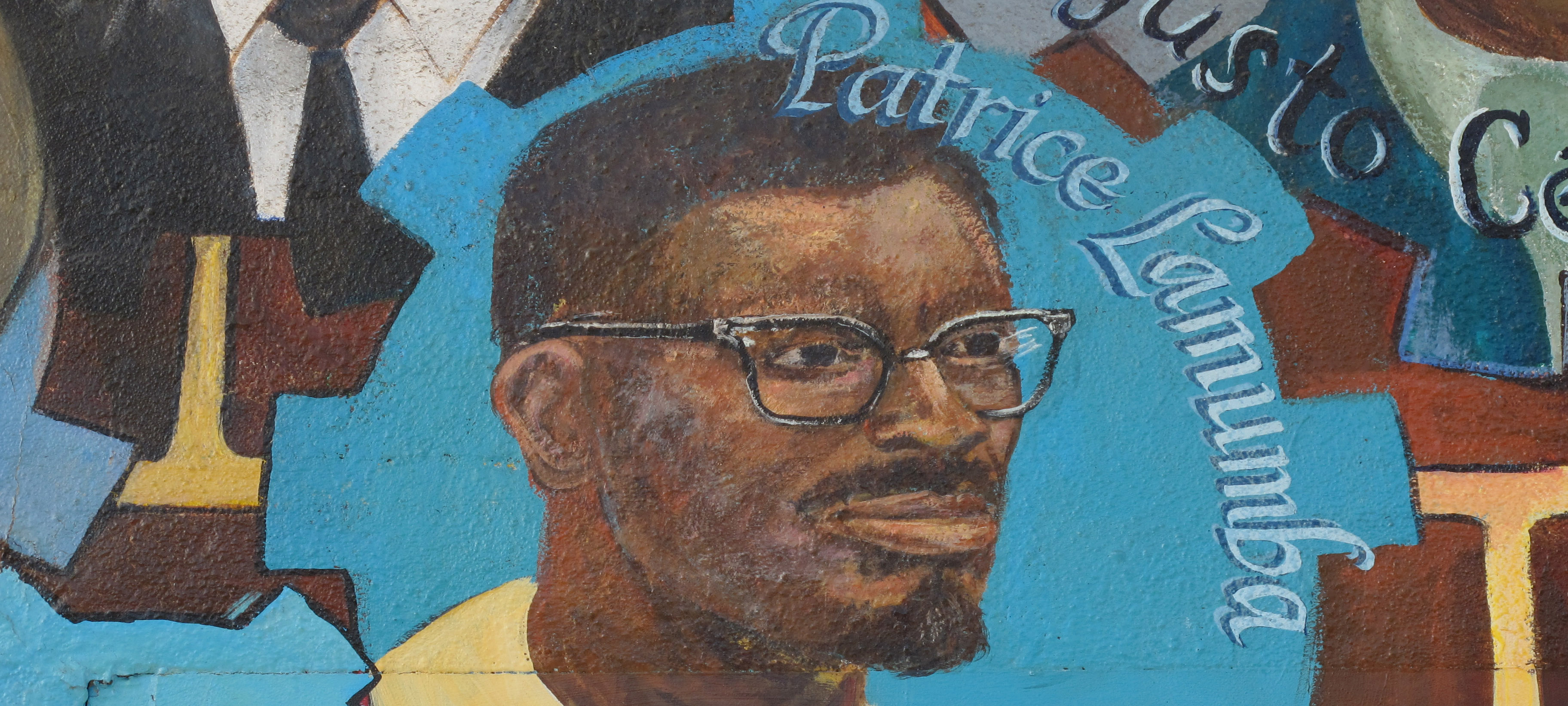 Figure 1: Mural of Patrice Lumumba, the DRC's short-lived independence leader. Image: Gary Stevens