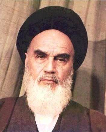 Ayatollah Khomeini, one of the principle Islamic leaders of the 1979 Iranian Revolution.