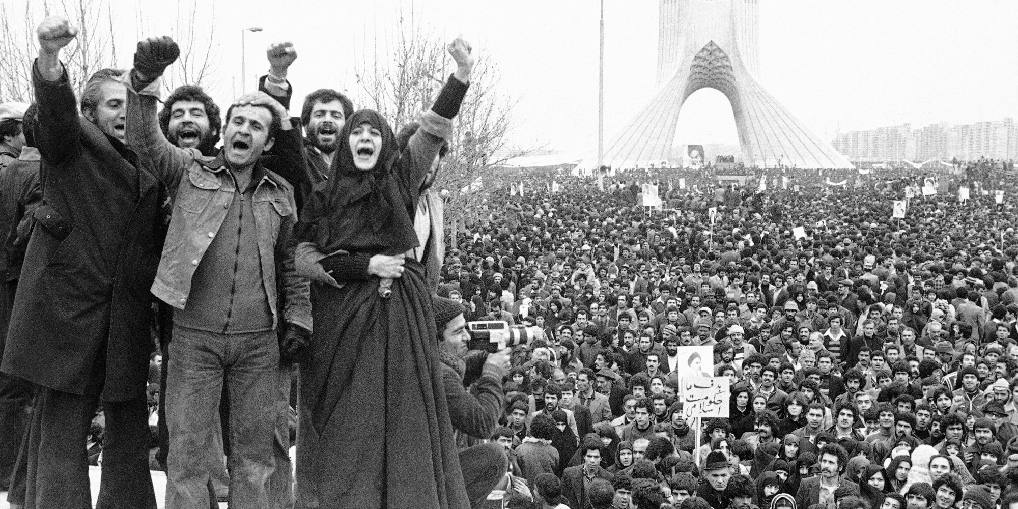 The Iranian Revolution in Shahyad Square, 1978.