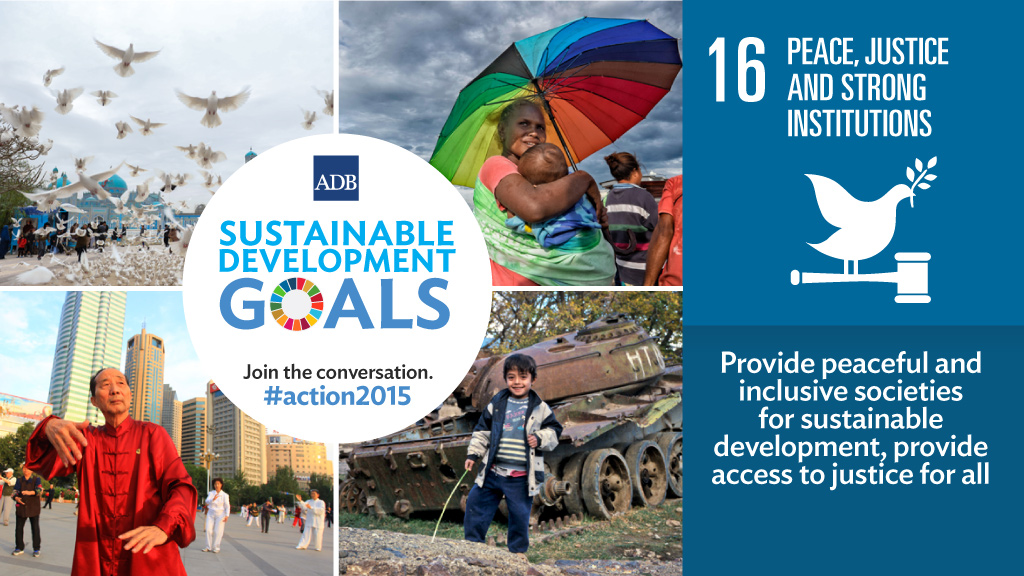 The Asian Development Bank promoting the Sustainable Development Goals. Image: Asian Development Bank