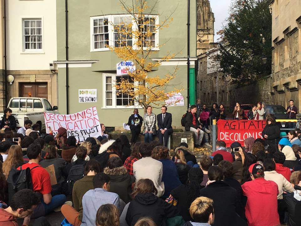 A 250+ strong rally to hand over the Rhodes Must Fall petition to Oriel College Provost on Nov. 6. Image: Rhodes Must Fall