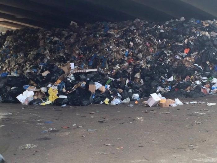 rubbish under the bridge