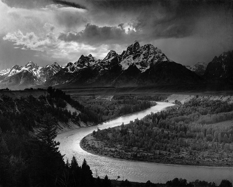'The Tetons and the Snake' by Ansel Adams, 1942. Image: Pearlmatic