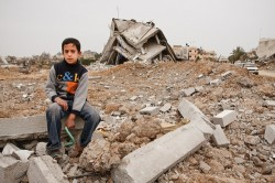 Child in Gaza City