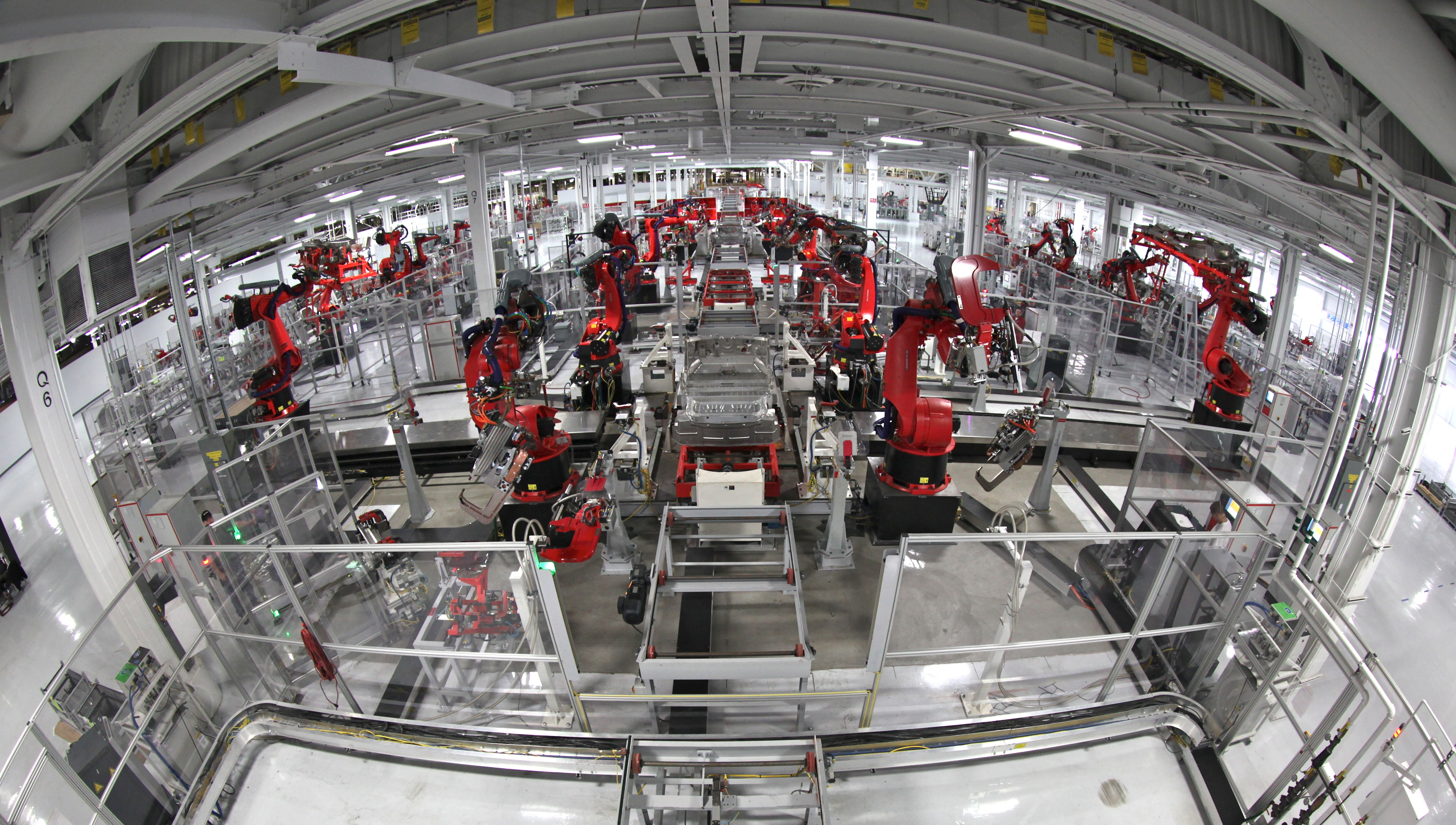 Tesla Motors automated assembly line. Image: Steve Jurvetson.