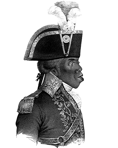 Toussaint Louverture. This image forms the basis for the logo of the American socialist magazine, The Jacobin.