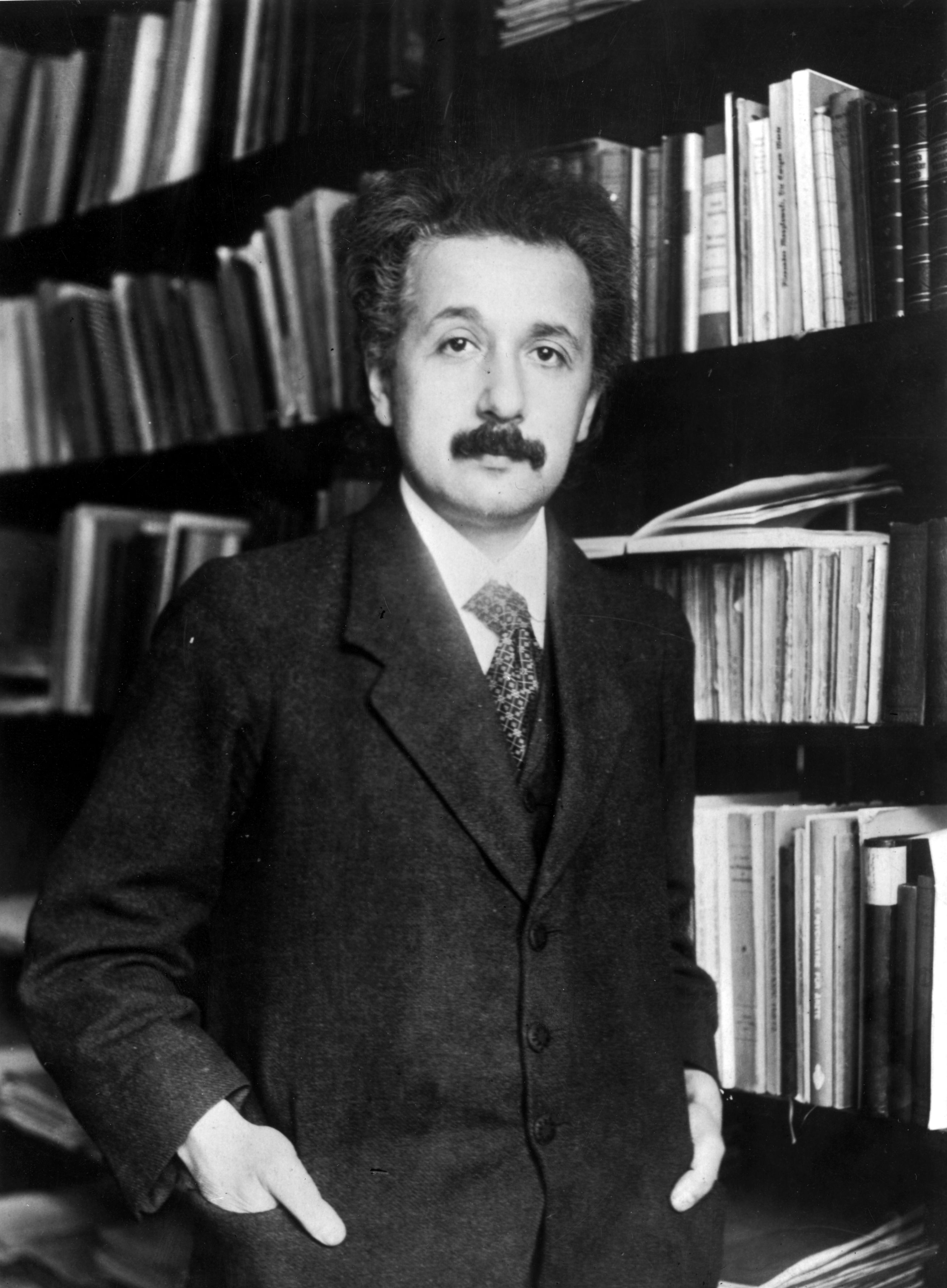 Albert Einstein in 1905, with 10 years of hard work ahead of him. (Photo by Topical Press Agency/Getty Images)