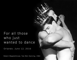 Two Men Dancing, © The Robert Mapplethorpe Foundation. Text and meme creation: R. Daniel Foster