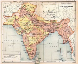 Map of British India, 1909 Oxford University Press, 1909