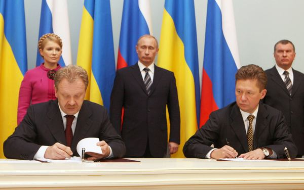 Signing of a deal (20-01-2009) which ended a month long dispute over gas prices and shut of half of Europe of vital natural gas for almost 2 weeks during mid-winter [http://www.tymoshenko.com.ua/eng/photo/]