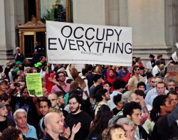 A group of Occupy Wall Street Protestors. Im
