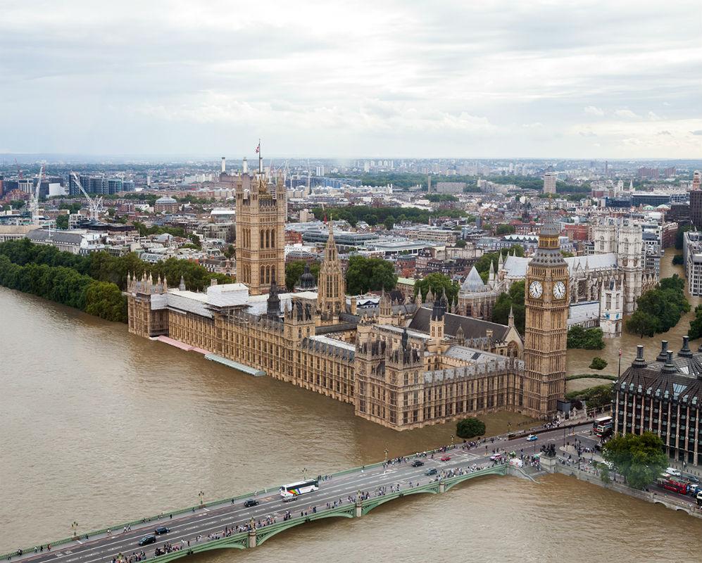 London, 2100, in the best-case scenario of 2oC of warming. [Esther Mucientes, El Mundo]