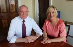 Martin McGuinness with new Sinn Féin leader Michelle O'Neill, Image Sinn Féin